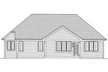 House Plan Design - Ranch Exterior - Rear Elevation Plan #46-832