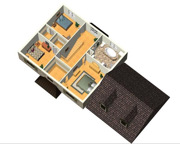 Colonial Floor Plan - Upper Floor Plan Plan #25-4701