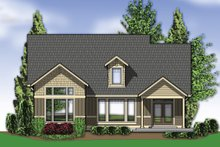Home Plan - Rear View - 2500 square foot Craftsman home