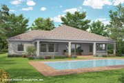 Mediterranean Style House Plan - 3 Beds 2.5 Baths 2564 Sq/Ft Plan #930-464 Exterior - Rear Elevation