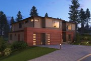 Contemporary Style House Plan - 5 Beds 5.5 Baths 6302 Sq/Ft Plan #1066-56 Exterior - Front Elevation
