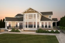 Home Plan - Traditional Exterior - Rear Elevation Plan #126-156