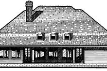 Dream House Plan - Traditional Exterior - Rear Elevation Plan #20-885