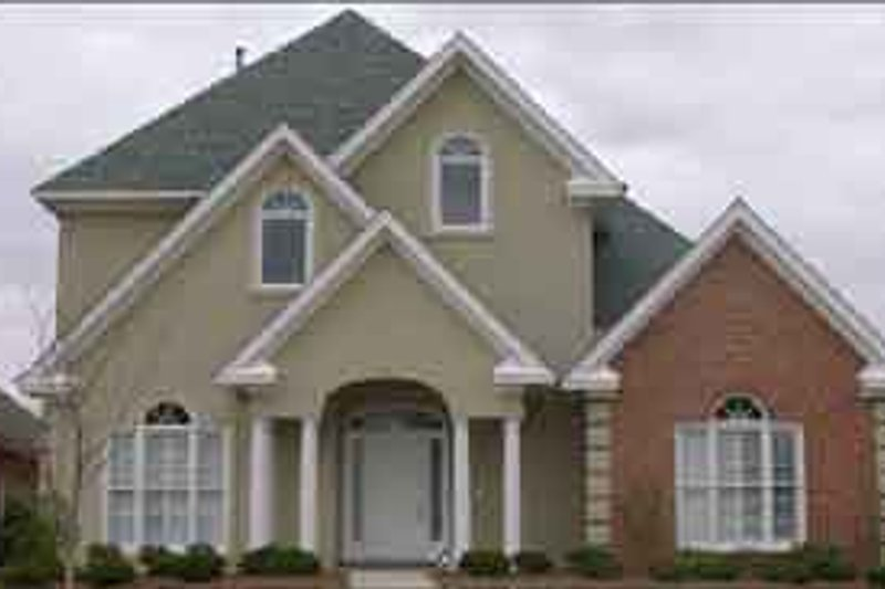 European Style House Plan - 4 Beds 3.5 Baths 2714 Sq/Ft Plan #63-124 Exterior - Front Elevation