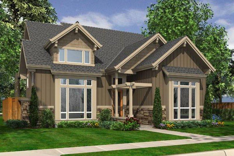 Craftsman Exterior - Front Elevation Plan #48-529