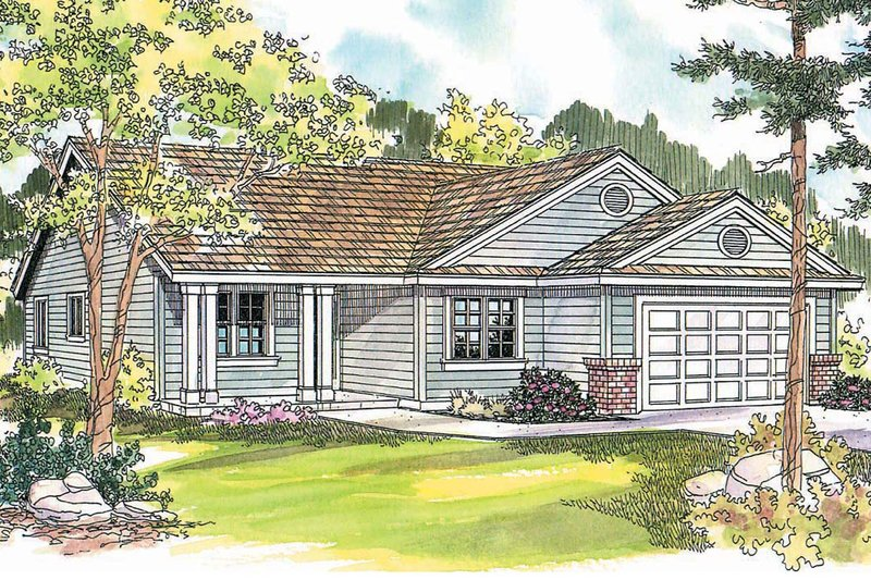 Dream House Plan - Craftsman Exterior - Front Elevation Plan #124-589