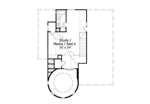 European Floor Plan - Other Floor Plan Plan #411-487