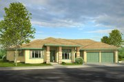 Prairie Style House Plan - 3 Beds 3.5 Baths 3189 Sq/Ft Plan #124-1012 Exterior - Front Elevation