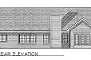 Traditional Style House Plan - 3 Beds 2 Baths 1649 Sq/Ft Plan #70-164 Exterior - Rear Elevation