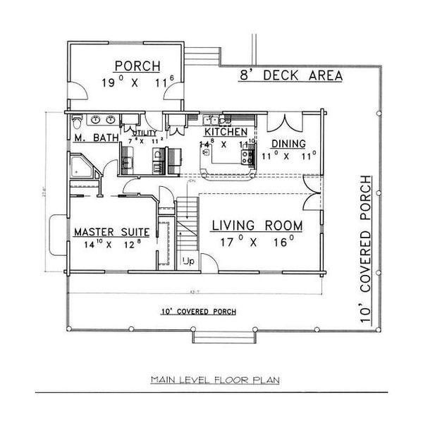 Home Plan - Log Floor Plan - Main Floor Plan #117-555