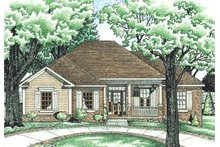 Dream House Plan - Traditional Exterior - Front Elevation Plan #20-590