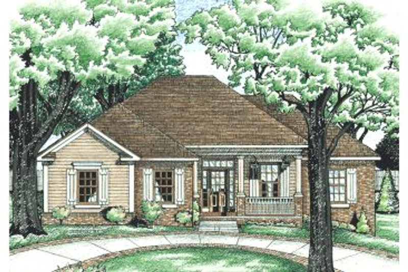 Traditional Exterior - Front Elevation Plan #20-590 - Houseplans.com
