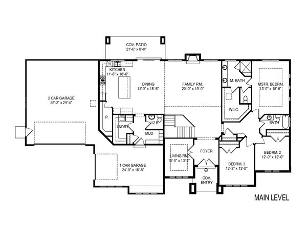 Modern Floor Plan - Main Floor Plan Plan #920-121