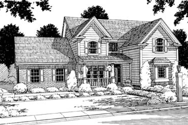 Traditional Exterior - Front Elevation Plan #20-233 - Houseplans.com
