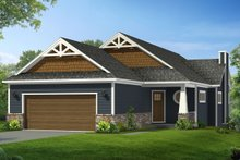 Craftsman Exterior - Front Elevation Plan #1057-9