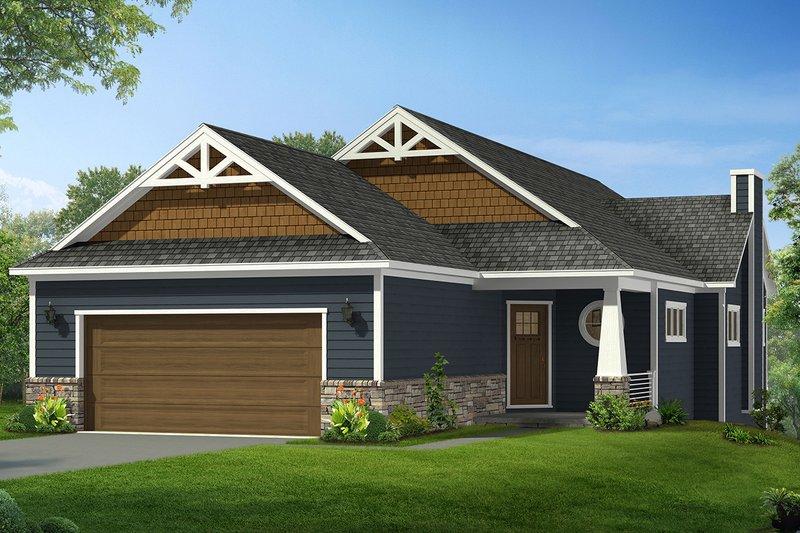 Craftsman Style House Plan - 2 Beds 2 Baths 1786 Sq/Ft Plan #1057-9