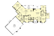 Contemporary Style House Plan - 3 Beds 3.5 Baths 4560 Sq/Ft Plan #930-506 Floor Plan - Main Floor Plan