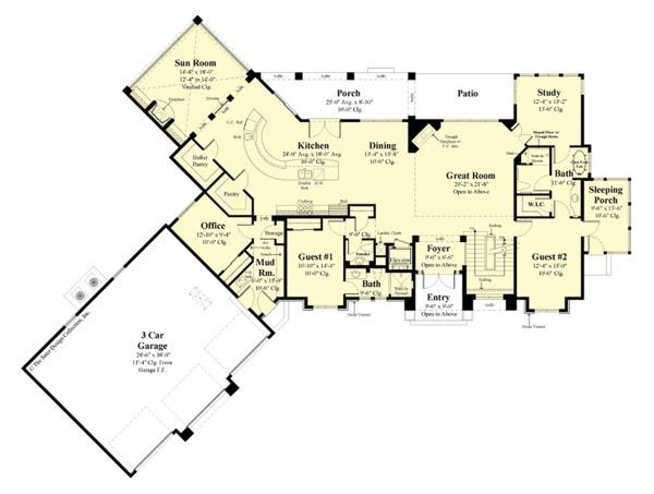 Contemporary Floor Plan - Main Floor Plan Plan #930-506