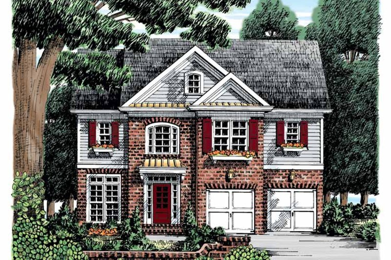 Colonial Exterior - Front Elevation Plan #927-864