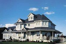Architectural House Design - Victorian Exterior - Front Elevation Plan #47-747