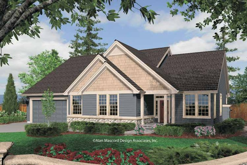 Traditional Exterior - Front Elevation Plan #48-846 - Houseplans.com