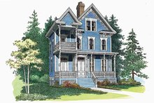 Architectural House Design - Victorian Exterior - Front Elevation Plan #72-885