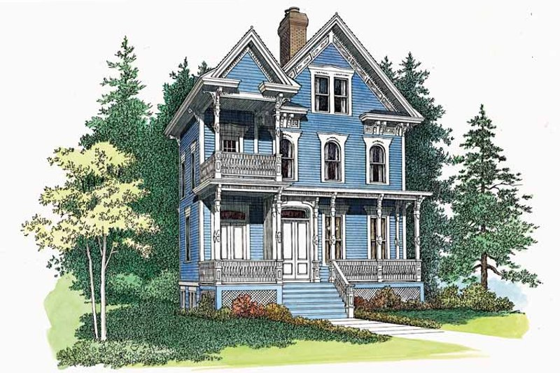 Victorian Exterior - Front Elevation Plan #72-885 - Houseplans.com