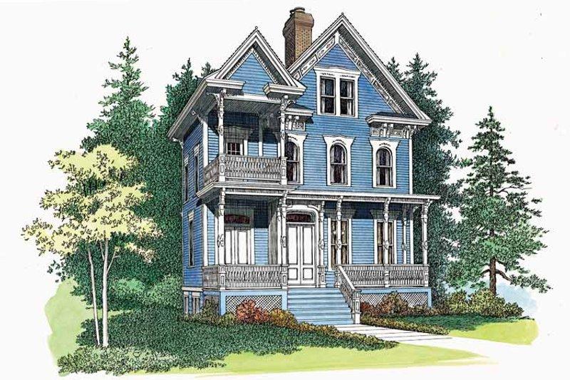 Victorian Exterior - Front Elevation Plan #72-885