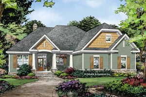 Ranch Exterior - Front Elevation Plan #929-1012