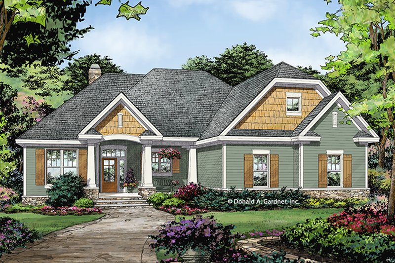 Architectural House Design - Ranch Exterior - Front Elevation Plan #929-1012