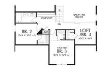 Craftsman Floor Plan - Upper Floor Plan Plan #48-643