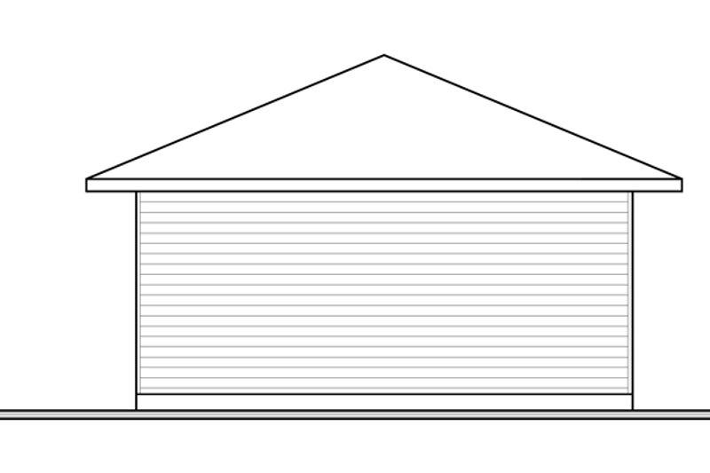 Contemporary Exterior - Rear Elevation Plan #23-2563 - Houseplans.com