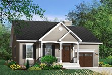 Cottage Exterior - Front Elevation Plan #23-349