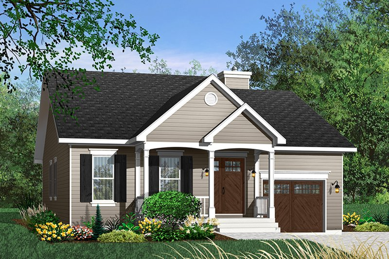 Cottage Style House Plan - 2 Beds 1 Baths 1220 Sq/Ft Plan #23-349 Exterior - Front Elevation
