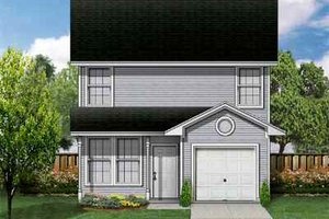Architectural House Design - Traditional Exterior - Front Elevation Plan #84-106