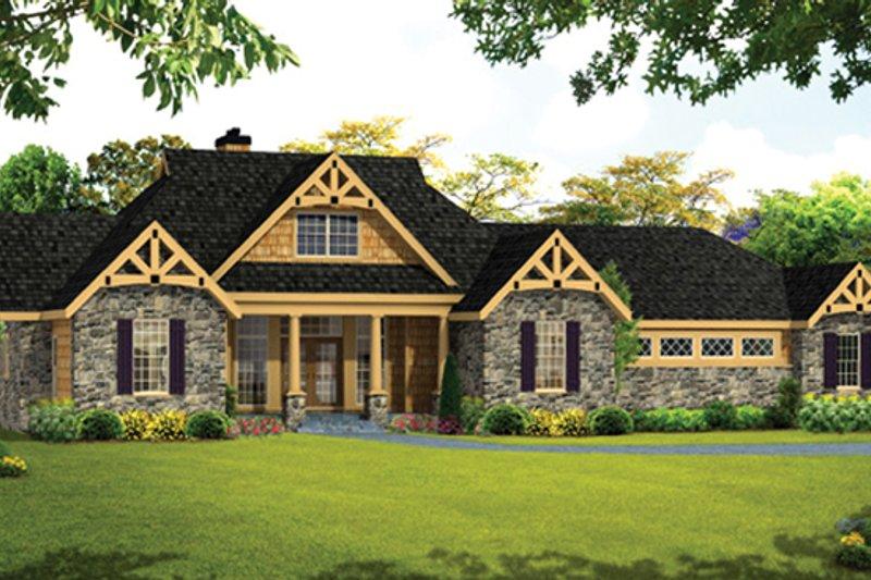 Architectural House Design - Craftsman Exterior - Front Elevation Plan #314-288