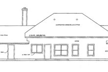 Ranch Exterior - Rear Elevation Plan #472-58