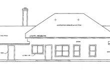 Ranch Exterior - Rear Elevation Plan #472-58