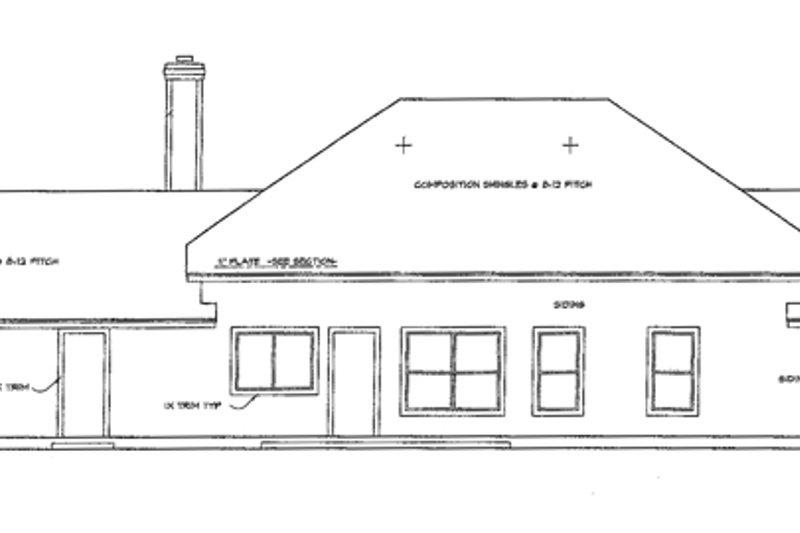 Ranch Exterior - Rear Elevation Plan #472-58 - Houseplans.com