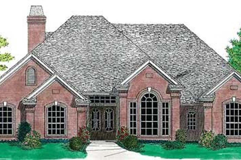 Dream House Plan - Traditional Exterior - Front Elevation Plan #310-636