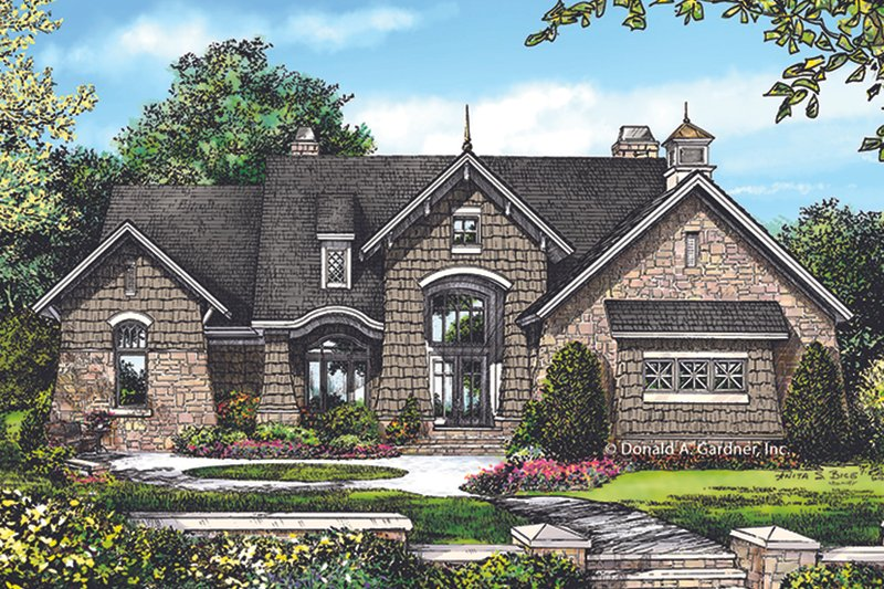 Architectural House Design - European Exterior - Front Elevation Plan #929-1015