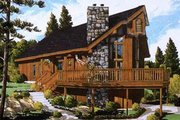 Contemporary Style House Plan - 3 Beds 2 Baths 1114 Sq/Ft Plan #3-107 Exterior - Front Elevation
