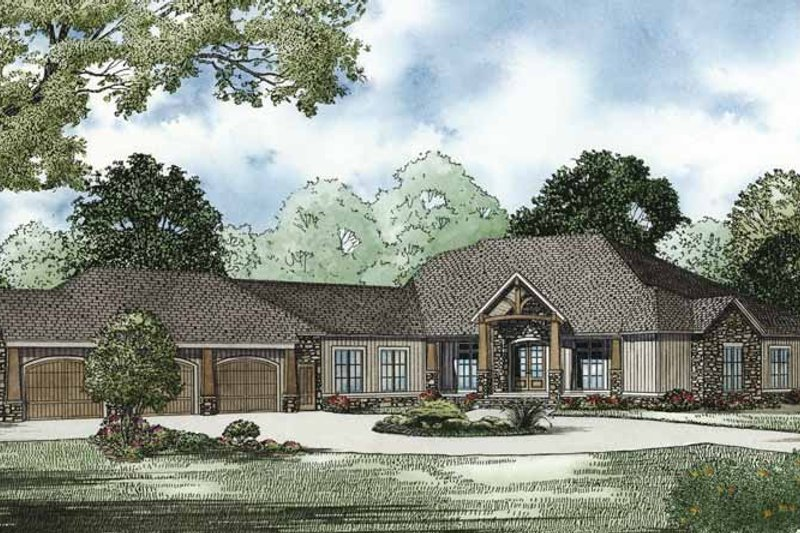 House Plan Design - Traditional Exterior - Front Elevation Plan #17-3302