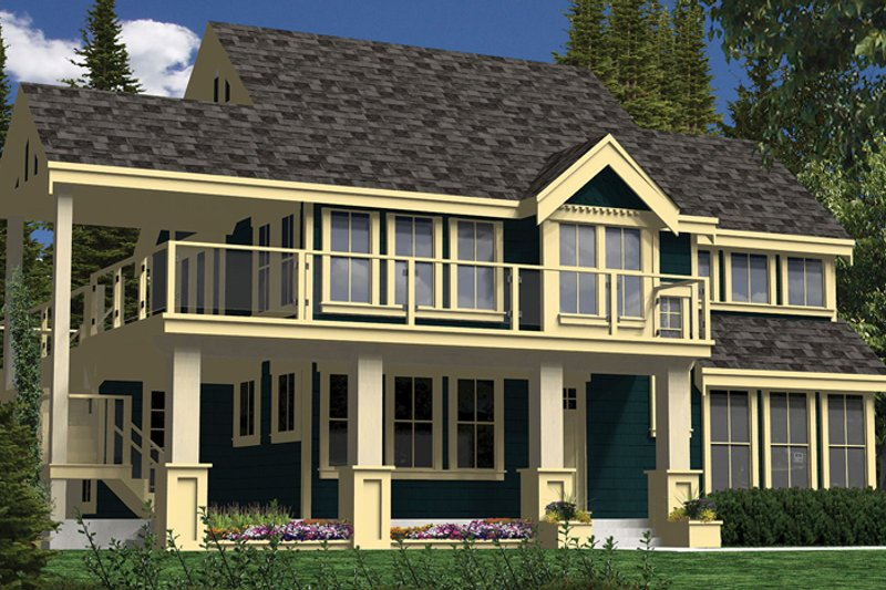 Country Exterior - Front Elevation Plan #118-152 - Houseplans.com