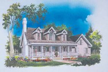 Country Exterior - Front Elevation Plan #929-231