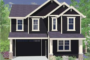 Home Plan - Traditional Exterior - Front Elevation Plan #509-175