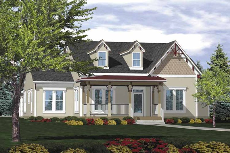 Ranch Exterior - Front Elevation Plan #320-830
