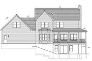 Traditional Style House Plan - 3 Beds 2.5 Baths 2102 Sq/Ft Plan #1010-80 Exterior - Rear Elevation