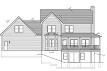 Home Plan - Traditional Exterior - Rear Elevation Plan #1010-80