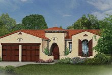 House Plan Design - Mediterranean Exterior - Front Elevation Plan #1058-7
